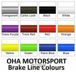 OHA Stainless Braided Front & Rear Brake Lines for BMW K1200 RS ABS 1997-2000