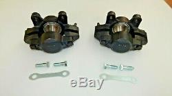Pair of Brand New Brake Calipers Caliper Set MGB Stainless Pistons W Bolts Etc