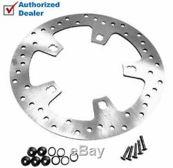 Polished Stainless Custom Enforcer Front Brake Rotor 2014-2018 Harley Touring