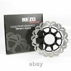 Rezo Wavy Stainless Front Brake Disc Pair Honda CBR 1000 RR Fireblade 08-15