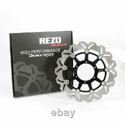 Rezo Wavy Stainless Front Brake Disc Pair Honda CBR 954 RR Fireblade 02-03