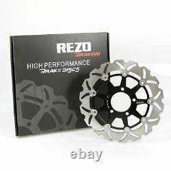 Rezo Wavy Stainless Front Brake Disc Pair Suzuki GSF 600 N Bandit 95-04