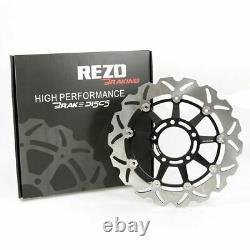 Rezo Wavy Stainless Front Brake Disc Pair Triumph Speed Triple 1050 05-07