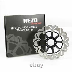 Rezo Wavy Stainless Front Brake Disc Pair for Honda CBR 600 F3 95-98