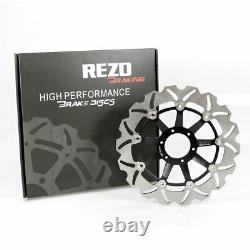 Rezo Wavy Stainless Front Brake Disc Pair for Honda CBR 600 F4 99-00