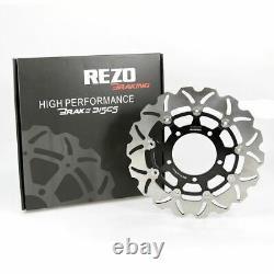 Rezo Wavy Stainless Front Brake Disc Pair for Suzuki GSX-R 1000 05-08