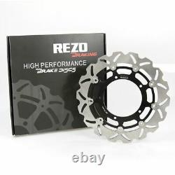Rezo Wavy Stainless Front Brake Disc Pair for Yamaha MT-10 ABS 16-19