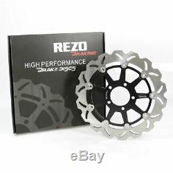 Rezo Wavy Stainless Front Brake Disc Rotors Pair for Suzuki GSX 1400 02-07