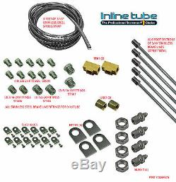 Stainless Steel 4X4 Off Road Rock Climb ATV Fits Jeep 3/16 Brake Kit Line Set 1