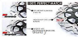 Stainless Steel Front Brake Disc Set For Kawasaki ZX-6R NINJA 636 2005-2006 05