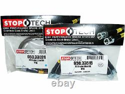 Stoptech Stainless Steel Braided Brake Lines (Front & Rear Set / 33024+33515)