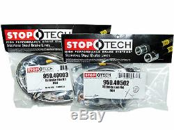 Stoptech Stainless Steel Braided Brake Lines (Front & Rear Set / 40003+40502)