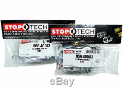 Stoptech Stainless Steel Braided Brake Lines (Front & Rear Set / 40013+40502)