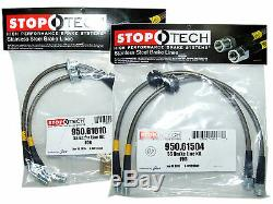 Stoptech Stainless Steel Braided Brake Lines (Front & Rear Set / 61010+61504)