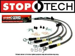 Stoptech Stainless Steel Braided FRONT & REAR Brake Lines Integra 94-01 DB DC