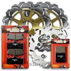 Suzuki F+R Stainless Steel Brake Rotor + Pads GSXR 750 96-99 TL 1000 R 98-03