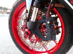 Suzuki GSXR 600 Brake Lines 2006 2007 Front-Rear Red Braided Stainless Kit