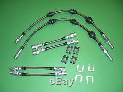 Vw Corrado VR6 Stainless Braided Brake Line Hose Kit