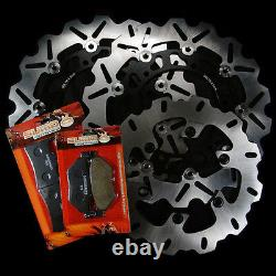Yamaha Front + Rear Stainless Steel Brake Disc Rotor + Pads TDM 900 2002-2014